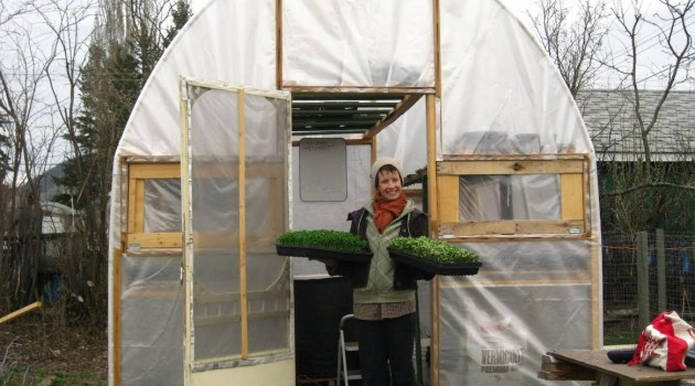 Brianna van de Wijngaard grows veggies in small gardens for profit.