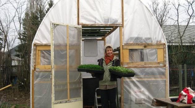 Brianna van de Wijngaard grows veggies in small gardens for profit.
